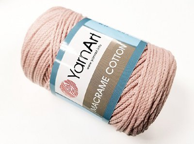 Макраме Коттон (Macrame Cotton YarnArt) цвет пудра