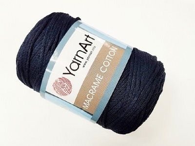Макраме Коттон (Macrame Cotton YarnArt) цвет тёмно-синий