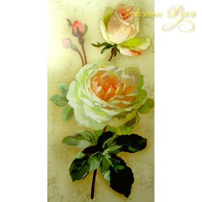 Декупажные карты Stamperia с рисунком Antique Rose, 3д, 25х48 см